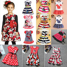 Kids Baby Girls Minnie Mouse Party Tutu Dress Summer Fancy Skirt Outfits Clothes
