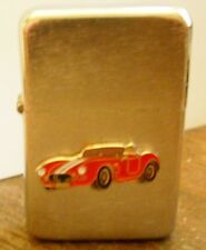 SHELBY COBRA Red Car Wind Proof Brushed Chrome Lighter