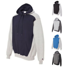 Champion Mens Pullover Double Dry Eco Colorblocked Hooded Sweatshirt