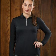 Dublin Womens Airflow Polo Shirt Long Sleeve Collar Equestrian Top Robinsons New