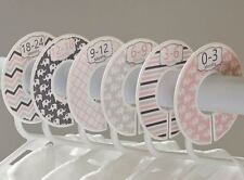 Elephant girl #c97 Baby Closet Dividers Clothes Organizers 6 pink gray