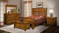 Luxury Amish Rustic Bedroom Set 5-Pc Ouray Solid Wood Cabin Lodge Furniture