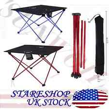 Portable Folding Table Fishing Seat Camping Moon Chair Lightweight Aluminum US