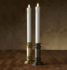 """Luminara® Flameless Candle - 1.5"""" Diameter Window Taper - Gold or Onyx Unscented"""