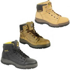 "CAT Caterpillar Dimen 6"" Safety Steel Toe Cap Mens Industrial Work Boots UK6-12"