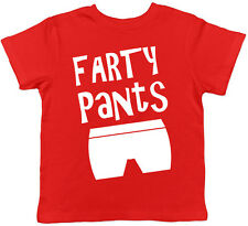 Farty Pants Funny Cute Childrens Kids Short Sleeve T-Shirt