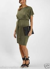 BNWT TOPSHOP MATERNITY KHAKI BATWING PLEAT DRESS SIZE 8 RRP € 46.00