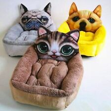 3D Pattern Lovely Pet House Dog Kennel Cat Beds Soft Cushion Inside Warm Room