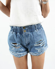 NEW Womens Fashion Rips denim shorts