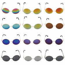 New Eyewear Retro Round Sunglasses Reflective Small Round Frame glasses DP