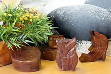 Indian rosewood puzzle boxes with secret compartment.  Trinket boxes, ornaments!