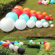 10PCS Multicolor Chinese Paper Lantern Wedding Lampshade Round Lamp Party Decor