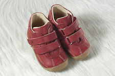Pololo Mini Gaspar Eco friendly Leather Sneakers for Toddlers - red or brown