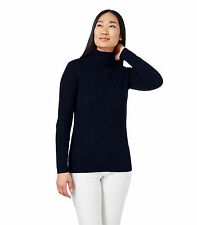 WoolOvers Womens Ladies Lambswool Ribbed Polo Neck Jumper Sweater Knitted