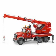Mack Crane Truck Red with Lights & Sounds Vehicle Toy by Bruder Trucks (02826)