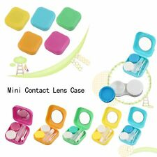 Plastic Mini Contact Lens Case Outdoor Travel Contact Lens Holder Container OE