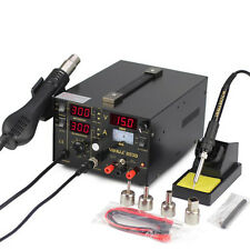 YIHUA 3-in-1 Hot Air Gun + LED Soldering Rework Station + 15V/1A Power Supply