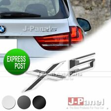 X5 LETTER REAR BADGE EMBLEM for ALL BMW CAR EXTERIOR 3 COLORS CHROME BLACK
