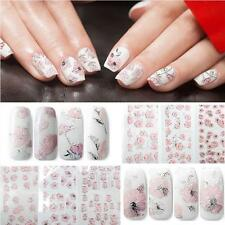 Decal DIY Sheet Nail Art Stickers Manicure Embossed Flowers 3D