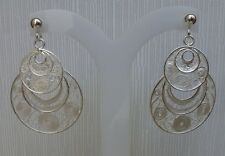 Sterling silver Hand-Made Hand Crafted Filigree Earrings From Malta