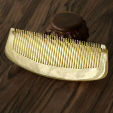 EMPTY PERSON 4.72 Inch Natural Horn Half Moon Shaped Anti-Static Lady Hair Comb