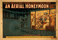 Photo Printed Old Poster: Stage Theatre Flyer Comedy Musical Aerial Honeymoon 01