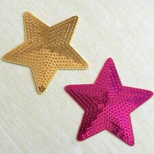 sequins pentagram embroidered PATCH iron/sew on kids Cloth DECOR badge applique