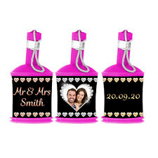 Personalised Photo Wedding Party Popper WRAPPERS ONLY Diamond Heart Favour Decor