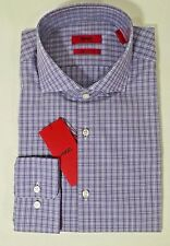 HUGO BOSS C-MELI US RED LABEL DRESS SHIRT SHARP FIT PURPLE CHECKED - NWT