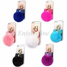 For Apple iPhone 6 Soft Silm TPU Gel Shockproof Skin Plush Ball Fur Case Cover