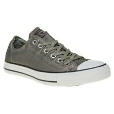 New Mens Converse Green Khaki All Star Ox Textile Trainers Canvas Lace Up