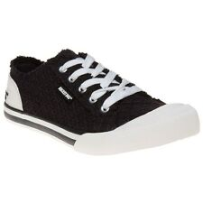 New Womens Rocket Dog Black Jazzin Canvas Trainers Lace Up