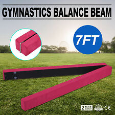 Pink Suede 2.1M Gymnastics Folding Balance Beam Low Beam Horizontal Bar Top