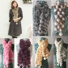 Women's Winter Warm Faux Rabbit Fur Collar Scarf Shawl Collar Wrap Stole Scarves