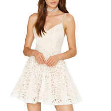 Sexy Women Summer White Pleated Evening Party Clubwear Lace Cami Mini Dress New