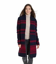 WoolOvers Womens Lambswool Open Front Ladies Knitted Pockets Cardigan Coatigan
