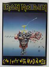 IRON MAIDEN POSTCARD - CAN I PLAY WITH MADNESS a)