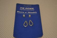 "ONE NEW LOT OF 6 TIE DOWN ENGINEERING SLEEVE N' THIMBLE KITS 1/16"" 4KH27."