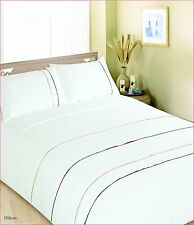 Double Bed Hilton Chocolate Duvet Cover Bedding Set