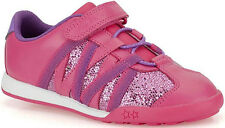 Clarks GIGGLE SUN Girls Hot Pink LIGHTS Leather Trainers Shoes 7 - 12 FGH Widths