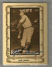 Bob Lemon signed autographed Baseball Legends trading card