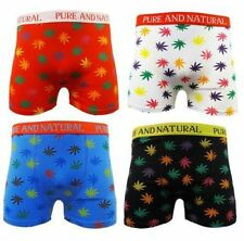 MEN'S  6 PAIRS DESIGNER BOXER SHORTS LEAF DESIGN COTTON LYCRA S-XL