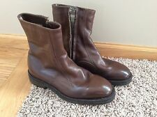 Vintage Men's Brown Leather Shearling Insulated Beatle Boots Size 8 D