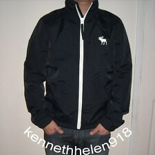NWT ABERCROMBIE & FITCH MENS CASUAL JACKET COAT NAVY SIZE LARGE A&F