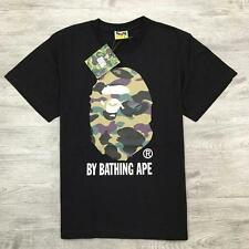 Japan Aape A bathing Fashion Cotton Green APE Logo Pattern Bape Crewneck T-shirt