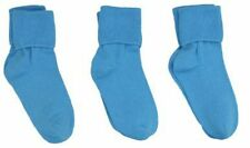 Jefferies Socks Seamless Toe Turn Cuff Sock 3 pair Pack Turquoise cotton Crew