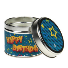 In-Scents Fragrant Gift Cartoon Style Happy Birthday Tin Candle - Various Scents