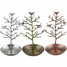 Retro Bird Tree Jewelry Earrings  Stand Holder Show Rack Necklace Display O6