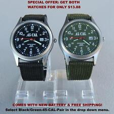 Flieger Type B style Pilots Watch, Aviator Watch Black Dial Analog Quartz Canvas