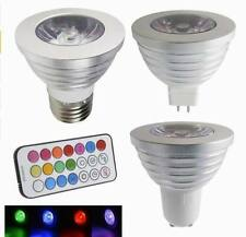 E27 /GU10 /MR16 12V 3W RGB LED Bulb Lamp Spot Light Multicolor Remote Control